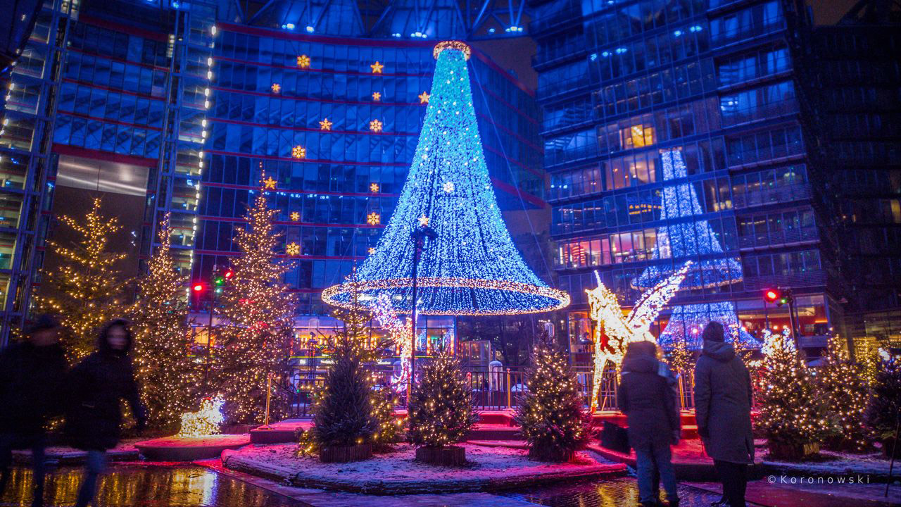 Berlin Christmas Market.Christmas Market At Sony Center