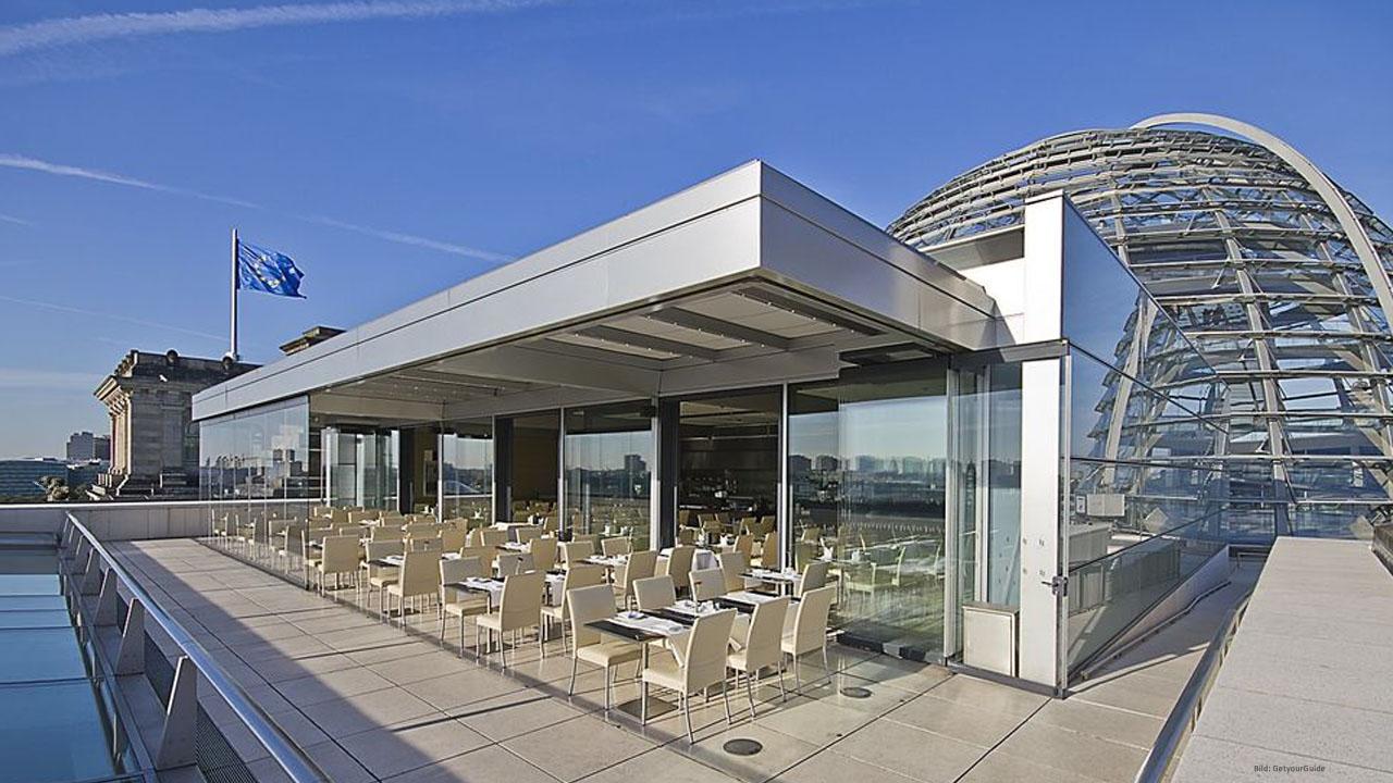 Afbeeldingsresultaat voor reichstag rooftop restaurant
